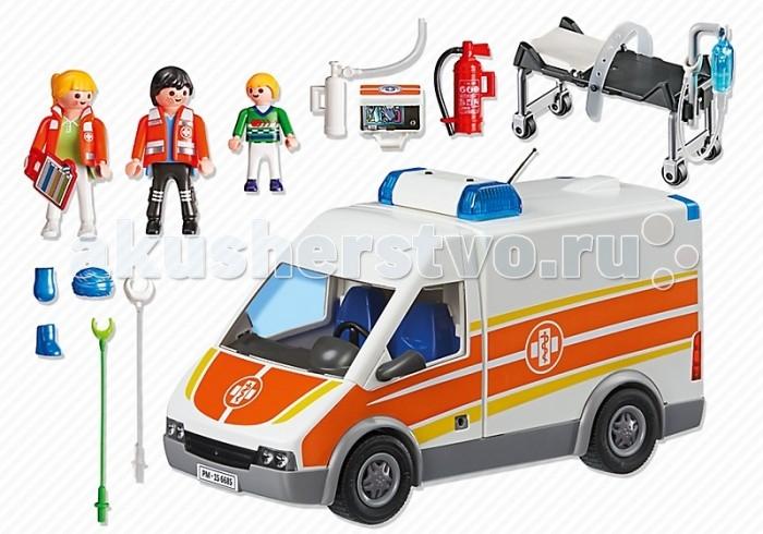 Конструктор Playmobil Детская клиника: Машина скорой помощи со светом и звуком