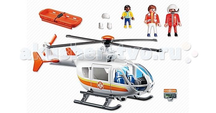 Конструктор Playmobil Детская клиника: Вертолет скорой помощиДетская клиника: Вертолет скорой помощиPlaymobil Детская клиника: Вертолет скорой помощи подойдет для игр детей возрастом от 4 до 10 лет. В набор входят 2 фигурки взрослых, фигурка мальчика, а также все необходимые детали и аксессуары, с помощью которых ребенок сможет собрать вертолет скорой помощи. Элементы конструктора выполнены из качественного, прочного и нетоксичного пластика. Универсальные размеры фигурок Playmobil позволяют сочетать наборы с другими из разных серий. Малыш будет с удовольствием проводить свой досуг за сборкой такого конструктора, придумывая разнообразные игровые сюжеты.  Дополнительно: Длина фигурки: 7.5 см Размер упаковки: 38.5 х 24.8 х 12.5 см  Вес: 640 г  В комплекте:  2 фигурки людей вертолет носилки аксессуары.<br>