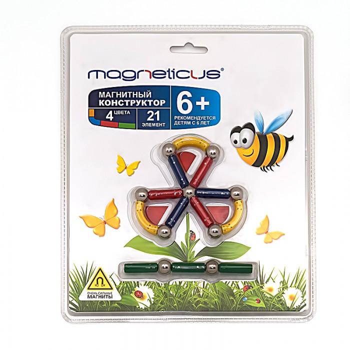 Конструкторы Magneticus 21 элемент Цветок стоимость