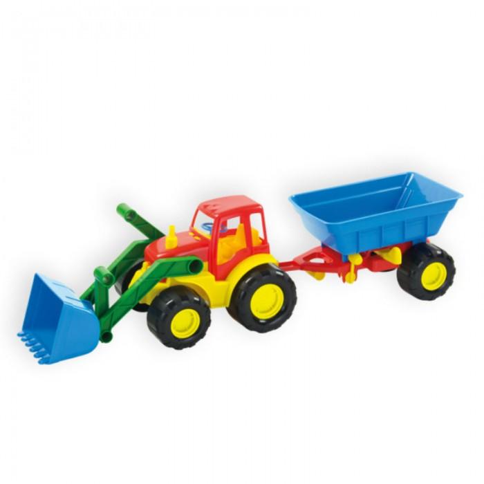 купить Машины ZebraToys Трактор с ковшом и прицепом Active недорого