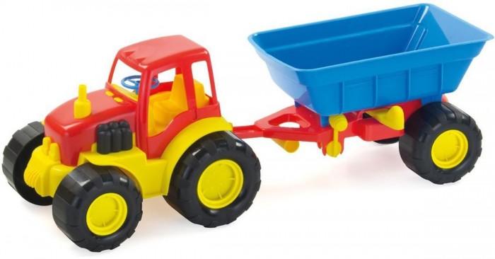 Машины ZebraToys Трактор с прицепом Active трактор с прицепом св ход 36см dickie
