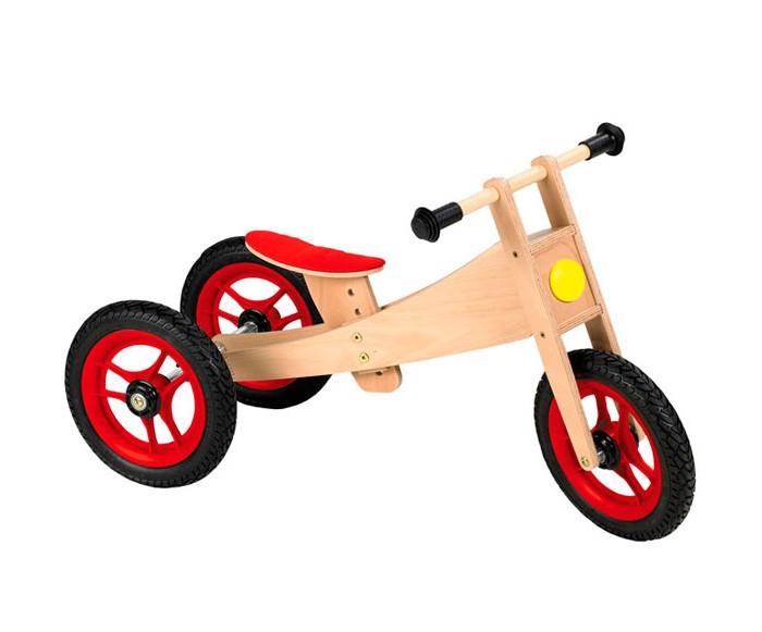 Велосипед трехколесный Geuther детский 2-в-1детский 2-в-1Лучшего средства для подготовки к езде на велосипеде просто не придумаешь, ведь функциональный велосипед 2 в 1 от Geuther легко и просто превращается из трехколесного в двухколесный!  Идеально развивает чувство равновесия, двигательные навыки ребенка и дарит огромное удовольствие. Сидение эргономичной формы обеспечивает удобство во время езды, прочная рама изготавливается из цельной уплотненной березовой древесины, высота сидения индивидуально регулируется от 29 до 41 см.  Подходит для детей от 18 месяцев до 5 лет. Надежен и устойчив благодаря 12-дюймовым резиновым шинам и рулю, который можно поворачивать не более, чем на 30 градусов.   Материал: Береза<br>