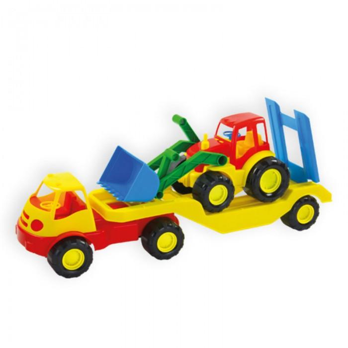 Машины ZebraToys Автомобиль с платформой Active автомобиль кран полесье mammoet с поворотной платформой 56771