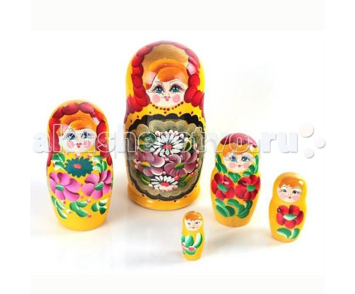 Деревянные игрушки Русская народная игрушка (РНИ) Матрешка 5 в 1 русская народная игрушка рни матрешка курочка ряба