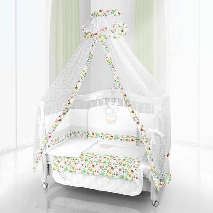 Постельные принадлежности , Комплекты в кроватку Beatrice Bambini Unico Flower Campo 120х60 (6 предметов) арт: 155219 -  Комплекты в кроватку