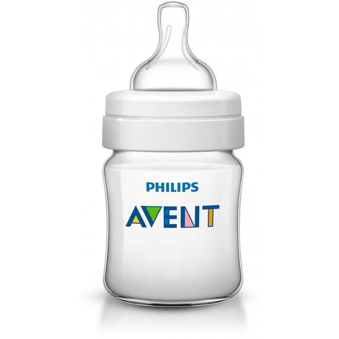 Бутылочки Philips Avent Classic+ 125 мл бутылочки для кормления philips avent детская бутылочка philips avent серии classic scf573 14 260 мл 1 мес