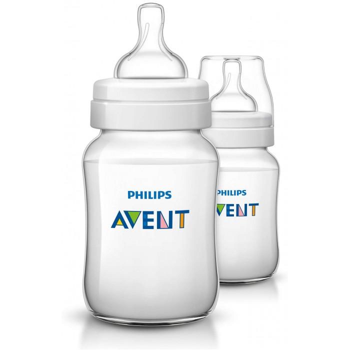 Аксессуары для кормления , Бутылочки Philips Avent Classic+ 2 шт. 260 мл арт: 155371 -  Бутылочки