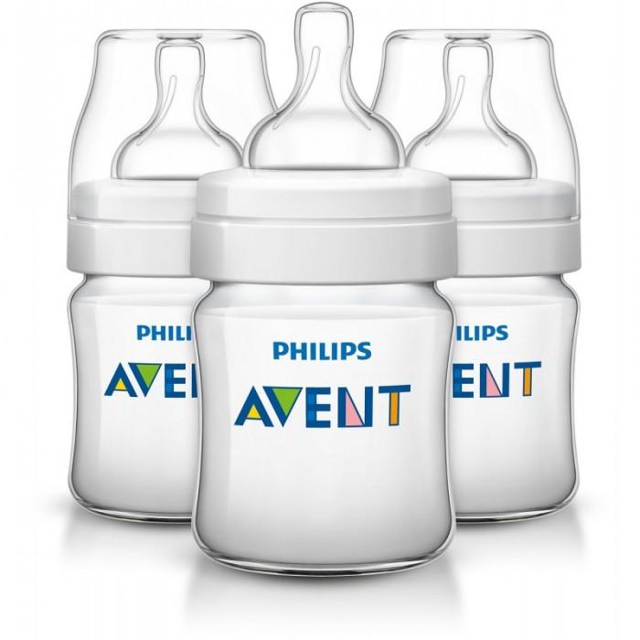 Бутылочки Philips Avent Classic+ 3 шт. 125 мл avent бутылочка avent natural для кормления с 3 мес 330 мл