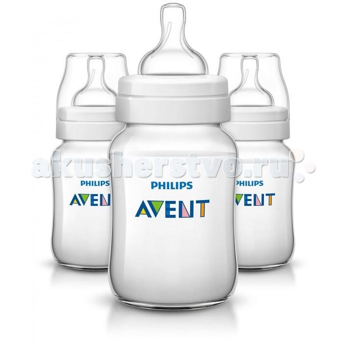 Аксессуары для кормления , Бутылочки Philips Avent для кормления 3 шт. 260 мл арт: 155379 -  Бутылочки