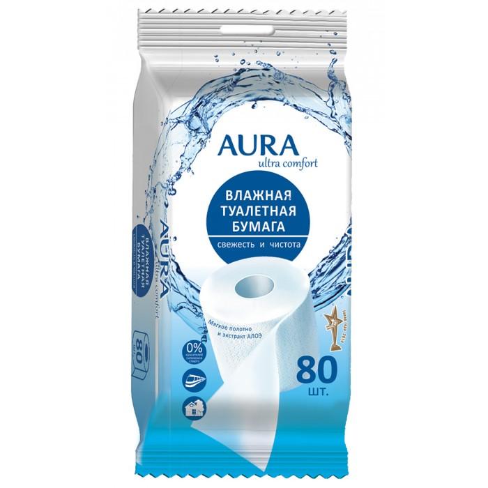 Хозяйственные товары Aura Влажная туалетная бумага Ultra Comfort 80 шт. туалетная бумага с анекдотами