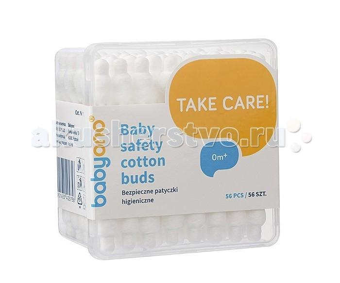 Уход за малышом BabyOno Ватные палочки с ограничителем 56 шт.