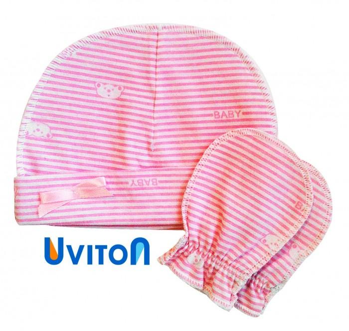 Шапочки и чепчики Uviton Набор шапочка и царапки Elly  шапочки и чепчики uviton набор шапочка и царапки bear
