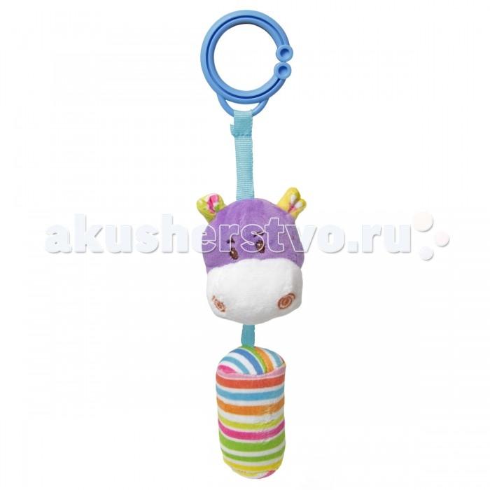 Подвесные игрушки Ути Пути Бегемотик с погремушкой ути пути разв игрушка пищалка лягушонок 20 см