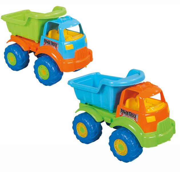 Pilsan Грузовик Power TruckГрузовик Power TruckГрузовик Power Truck - яркая игрушка для игр на улице.   Большой грузовик привлечет детское внимание и позволит придумать много увлекательных игр. При помощи грузовика ребенок сможет активно развивать воображения, сочиняя все новые игры, а также координацию движений и восприятие цветов.   Грузовик имеет большие колеса и откидной кузов, в который можно положить мелкие предметы или насыпать песок.  Максимальная нагрузка 3 кг. Модель имеет большие рельефные пластиковые колеса, которые отличаются легким ходом даже по песку.  Откидной кузов. Материал: прочный пластик. Размеры: 26.5х49.5х31 см.  Цвета в ассортименте.  Компания Pilsan начала свою историю в 1942 году. Сегодня – это компания-гигант индустрии крупногабаритных детских игрушек, которая экспортирует свою продукцию в 57 стран мира. Компанией выпускается 146 наименований продукции – аккумуляторные и педальные автомобили, велосипеды, развивающие игрушки и аксессуары для детей. Вся продукция Pilsan сертифицирована и отвечает международным стандартам качества.<br>