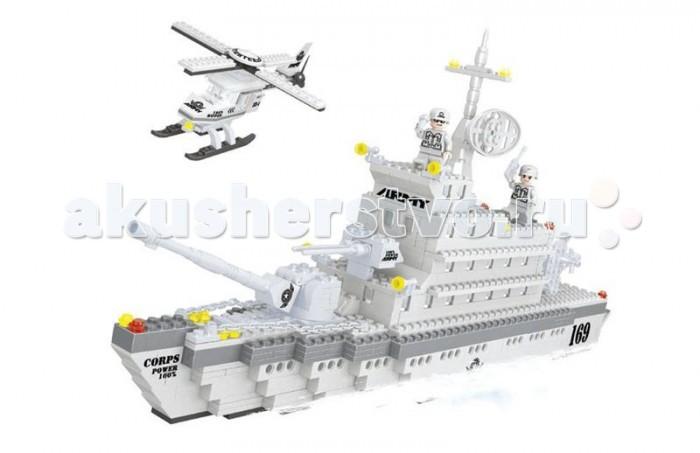 Конструктор Ausini серии Военные 600 деталейсерии Военные 600 деталейКонструктор  состоит из 600 деталей, из которых можно собрать военный корабль и вертолет.  Детали этого конструктора совместимы с другими наборами, что позволяет легко их комбинировать, придумывая что то новое.  Играя с конструктором, ребенок развивает воображение и пространственное мышление, а так же ловкость, координацию движений и мелкую моторику рук.<br>