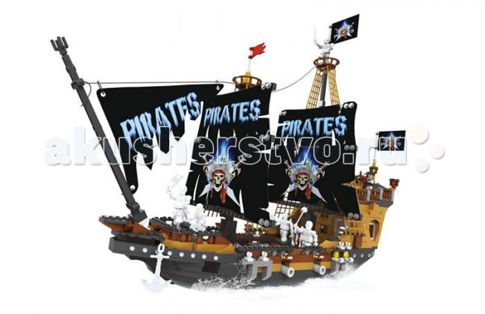 Конструктор Ausini серии Пираты 840 деталейсерии Пираты 840 деталейКонструктор  состоит из 840 деталей, из которых можно собрать пиратский корабль с фигурками пиратов на борту.   Детали этого конструктора совместимы с другими наборами, что позволяет легко их комбинировать, придумывая что то новое.  Играя с конструктором, ребенок развивает воображение и пространственное мышление, а так же ловкость, координацию движений и мелкую моторику рук.<br>