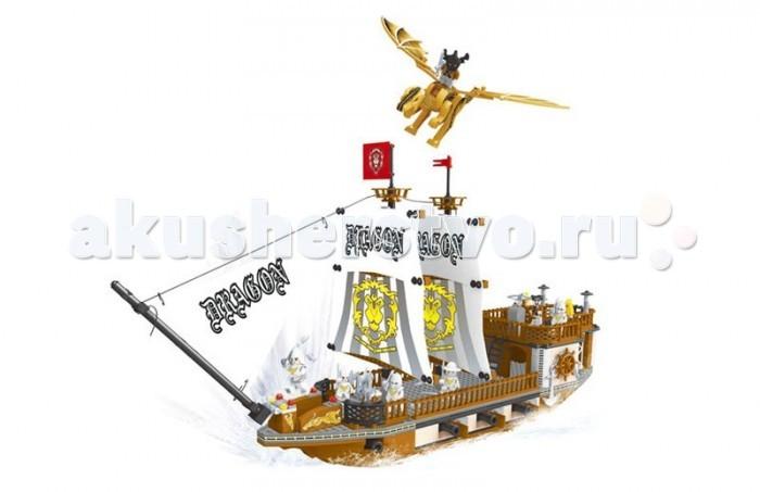 Конструктор Ausini серии Пираты 705 деталейсерии Пираты 705 деталейКонструктор  состоит из 705 деталей, из которых можно собрать большой пиратский корабль с пушками и фигурками пиратов на борту, а так же летающим драконом.   Детали этого конструктора совместимы с другими наборами, что позволяет легко их комбинировать, придумывая что то новое.  Играя с конструктором, ребенок развивает воображение и пространственное мышление, а так же ловкость, координацию движений и мелкую моторику рук.<br>