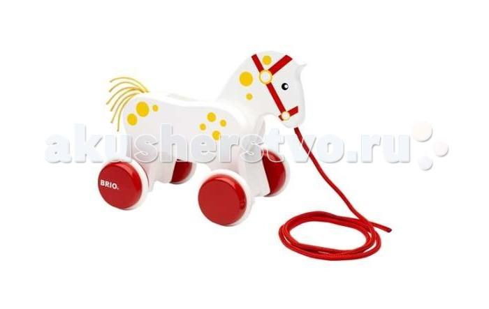 Каталка-игрушка Brio Лошадка на веревочке