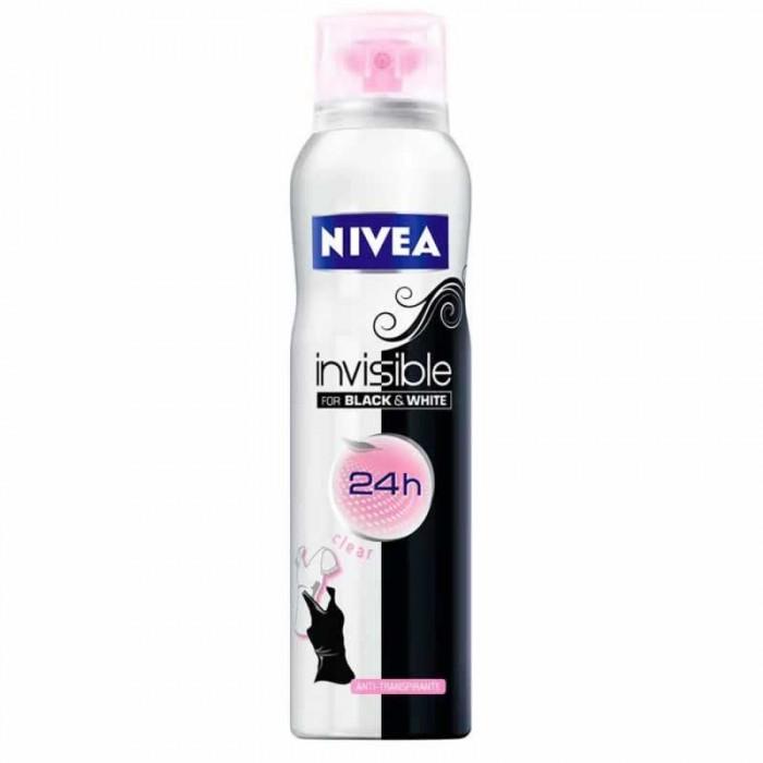 Косметика для мамы Nivea Део-спрей Невидимая защита для черного и белого Clear 150 мл кислотные красители в алматы