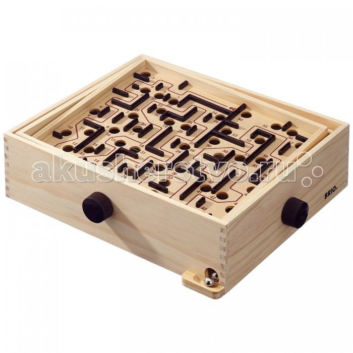 Brio Настольная игра Лабиринт 34000Настольная игра Лабиринт 34000Brio Настольная игра Лабиринт 34000 представляет собой классическую игру с входами и выходами. Цель игры проста - докатить шарик от начала и конца и не уронить его в лунку.   В наборе имеются 2 сменных поля с разными уровнями сложности.  Используя ручки, расположенные на торцах лабиринта, необходимо таким образом наклонять игровое поле, чтобы прокатить металлический шарик от его начала до конца и не закатить его ни в одно из многочисленных отверстий. Каждое отверстие имеет своё число баллов, которые начисляются игроку за попадание в него шариком. Чем ближе расположено отверстие к финишу лабиринта, тем большее число баллов будет Вам начислено. Тем самым, чем большее расстояние Вам удастся прокатить шарик по лабиринту и чем ближе Вы подбираетесь к финишу, тем большее количество баллов Вы набираете.  В лабиринт могут играть игроки всех возрастов, в него можно играть весёлой компанией или всей семьёй, распределив ручки управления наклоном поля между всеми участниками.  Деревянный Лабиринт позволяет развивать моторные навыки, концентрацию, восприятие, рассуждение, и более всего, терпение!   Игрушка изготовлена из качественного дерева, без зазубрин.<br>