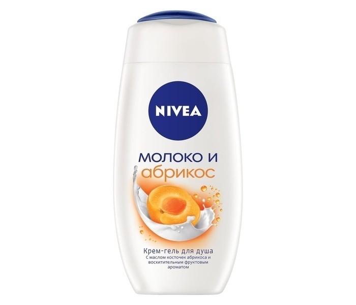 Косметика для мамы Nivea Крем-гель для душа Молоко и Абрикос 250 мл гель д душа nivea крем абрикос 250мл