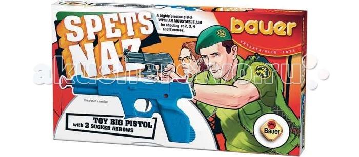 Игрушечное оружие Bauer Игрушка Пистолет Спецназ с тремя стрелами игрушка пистолет спецагент со стрелами на присосках