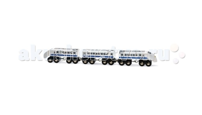 Brio Пассажирский поезд экспресс 3 элементаПассажирский поезд экспресс 3 элементаBrio Пассажирский поезд экспресс 3 элемента. Дополнительные элементы для железной дороги Brio.  В состав набора входит пассажирский поезд экспресс железной дороги Brio. Яркий, стремительный пассажирский состав. В составе поезде три вагона.   Все вагоны, входящие в состав - головные и пассажирский вагон - четырёхосные.<br>
