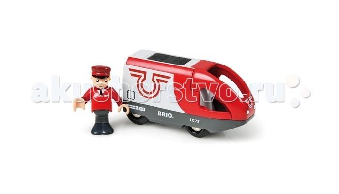 Железные дороги Brio Вагон с машинистом (2 элемента) brio самолетик с трапом