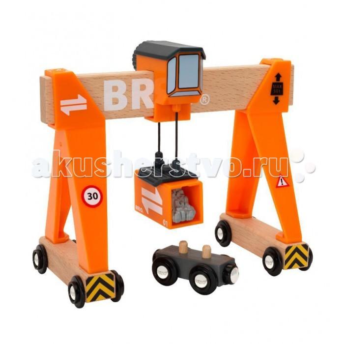 Игровые наборы Brio Портовый кран с кабиной и вагончиком с грузом