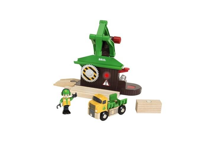 Игровые наборы Brio Набор Лесозаготовочная станция brio локомотив и грузовые вагоны с животными