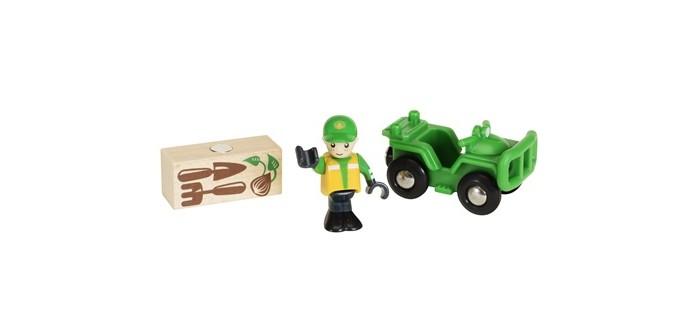 Машины Brio Вездеход с аксессуарами brio локомотив и грузовые вагоны с животными