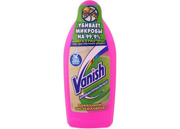 Бытовая химия Vanish Шампунь антибактериальный для ручной чистки ковров 450 мл vanish шампунь для ручной чистки ковров 750 мл