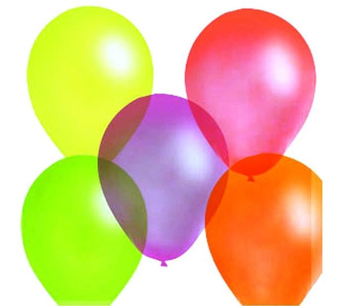 Товары для праздника Поиск Воздушные шары ассорти флюорисцентные 100 шт. клатч