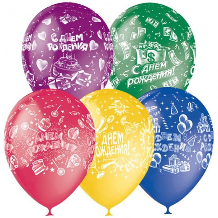 Товары для праздника Поиск Воздушные шары С Днем Рождения пастель 25 шт. товары для праздника поиск воздушные шары с днем рождения 50 шт