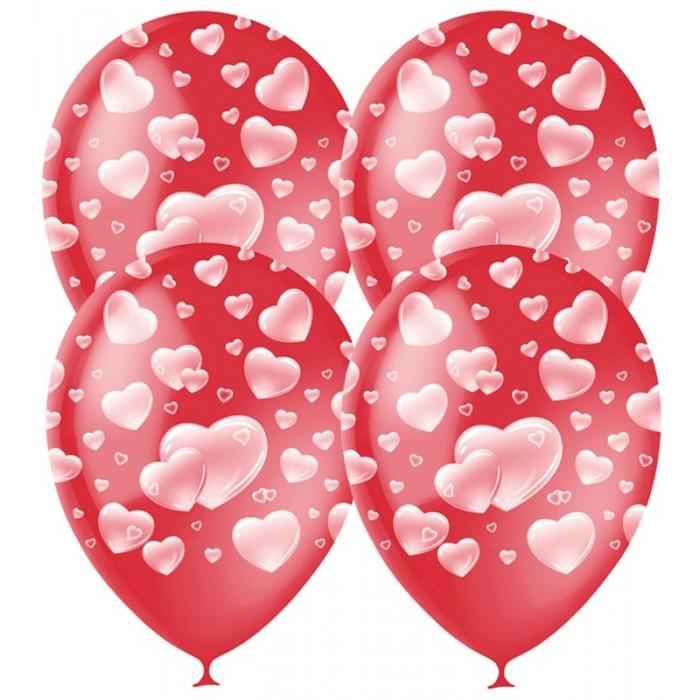 Фото Товары для праздника Поиск Воздушные шары Cherry Red Сердца пастель 25 шт.