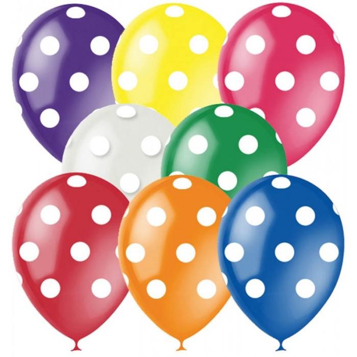 Товары для праздника Поиск Воздушные шары Горошек ассорти 8 цветов 25 шт. клатч
