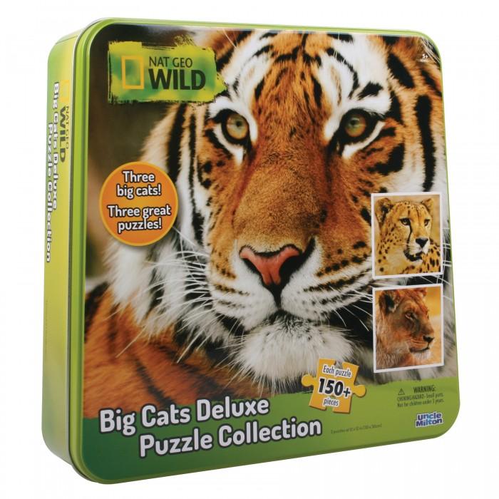 Пазлы Uncle Milton Пазл 3 в одном в жестяной коробке Nat Geo Wild Games & Puzzles 16445 150 элементов