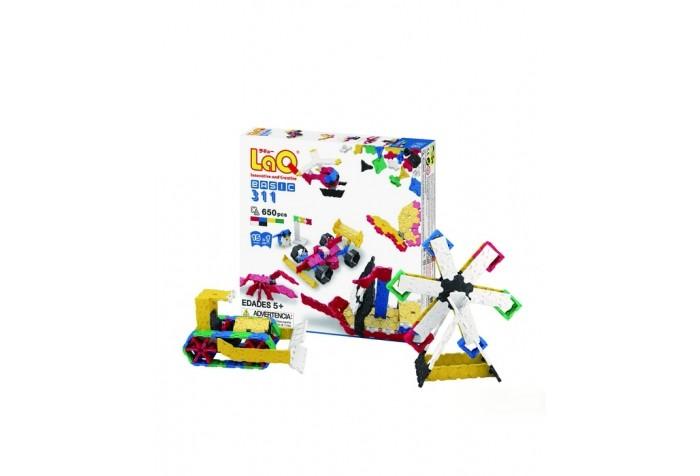 Конструктор LaQ  Basic 311 (650 частей)Basic 311 (650 частей)Конструктор LaQ Basic 311 (650 частей) это безграничные возможности создания плоских и объемных моделей с помощью основных видов деталей и запатентованной системы соединений. Гибкие и прочные элементы выполнены из высококачественного нетоксичного пластика ярких цветов, они легко и надежно соединяются друг с другом, образуя устойчивые конструкции, поэтому с готовой игрушкой можно играть в свое удовольствие.   В наборе представлены фигуры квадрата и треугольника, пять видов соединительных креплений.   Время, проведенное в творчестве с конструктором LaQ – это не только время радости, творчества и вдохновения, но и время для развития полезных навыков ребенка, увлекательной подготовки к школе, развития мелкой моторики рук, выработки аккуратности, усидчивости, внимательности.  В наборе 650 деталей.<br>
