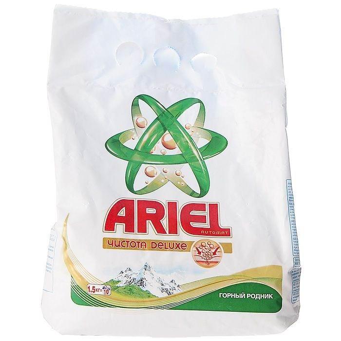 Бытовая химия Ariel Стиральный порошок автомат Горный родник 1.5 кг бу автомат для холодной штамповки