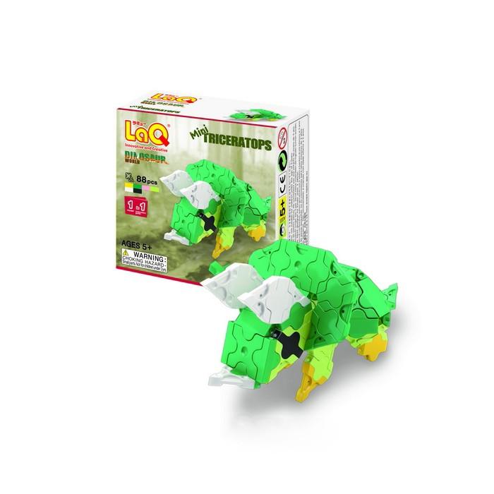 Конструкторы LaQ Dinosaur World Mini Triceratops (88 элементов) конструктор laq mini t rex 88 элементов 771