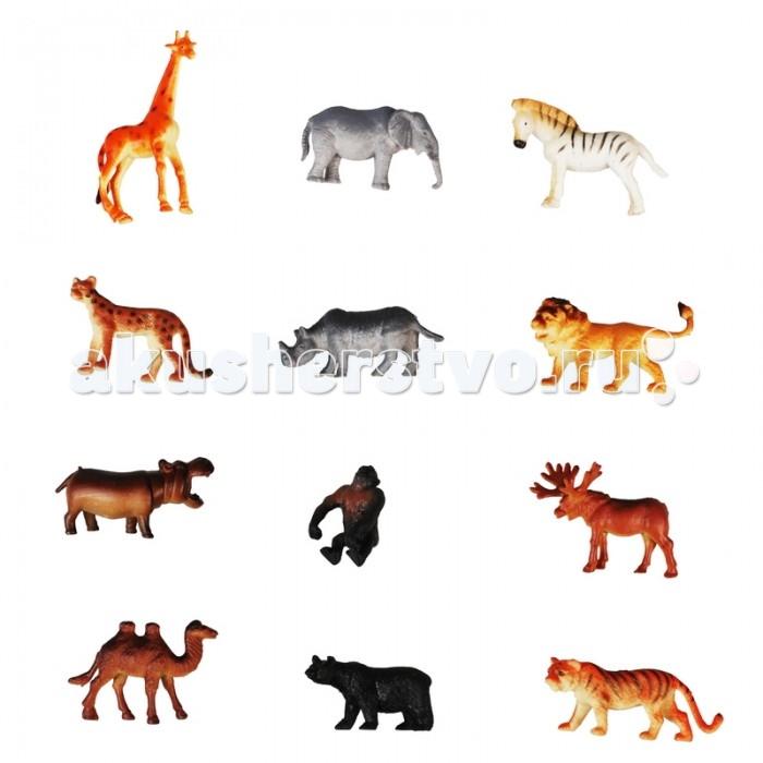 Игровые фигурки 1 Toy Набор Дикие животные 12 фигурок дикие звери