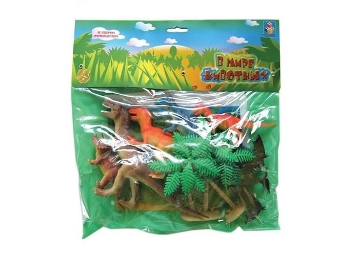 Игровые фигурки 1 Toy Набор фигурок Динозавры 10 шт. набор для творчества 4m фигурки из формочки динозавры от 5 лет 00 03514