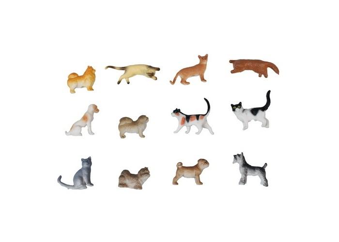 Игровые фигурки 1 Toy Набор фигурок Собаки и кошки 12 шт. набор фигурок good dinosaur кеттл и раптор 62305