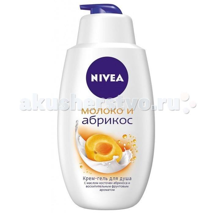 Косметика для мамы Nivea Крем-гель для душа Молоко и Абрикос 750 мл гель д душа nivea крем абрикос 250мл