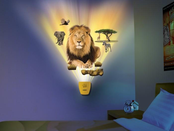Ночники Uncle Milton Настенный проектор Африканское сафари In My Room uncle milton настенный проектор железный человек
