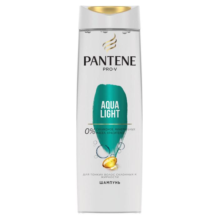 Косметика для мамы Pantene Легкий питательный шампунь Aqua Light для тонких склонных к жирности волос 400 мл шампуни ec lab шампунь для секущихся волос питательный 250мл