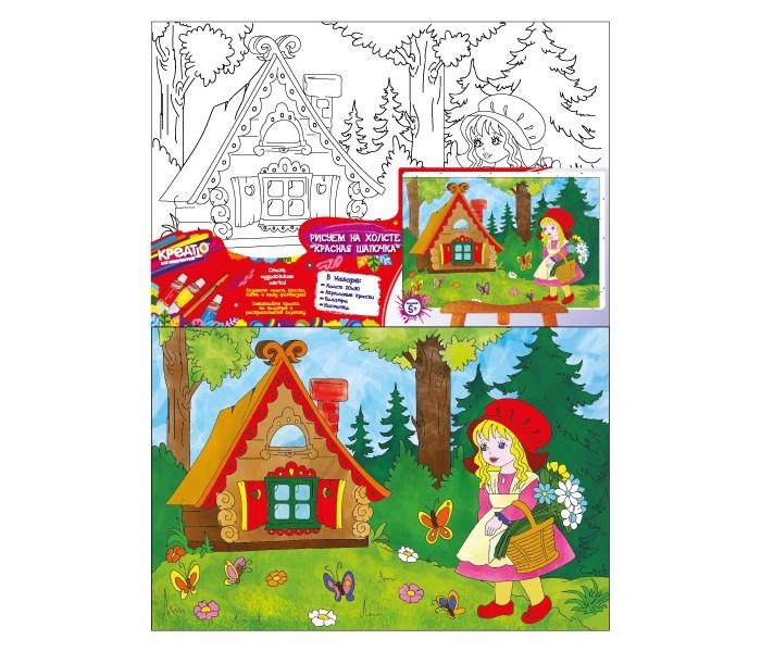 Раскраски Креатто Роспись по холсту Красная Шапочка наборы для рисования креатто роспись по холсту париж