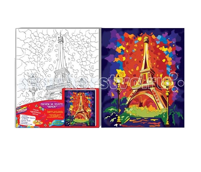 Раскраски Креатто Роспись по холсту Париж наборы для рисования креатто роспись по холсту париж