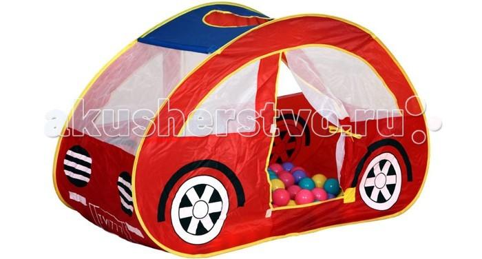 BabyOne Ching-Ching Игровая палатка Машина + 100 шаровChing-Ching Игровая палатка Машина + 100 шаровИгровая палатка BabyOne обязательно понравится мальчишкам, ведь им так нравится играть с машинами. На палатке нарисованы колеса и она совсем как настоящая, а благодаря размеру можно посидеть в салоне своего авто. Есть дверка, которую можно закрыть, а в самой машинке куча веселых разноцветных шариков.  Особенности: материал: нейлон размеры: 130х70х80 см вес: 1.2 кг в комплекте 100 разноцветных шаров<br>