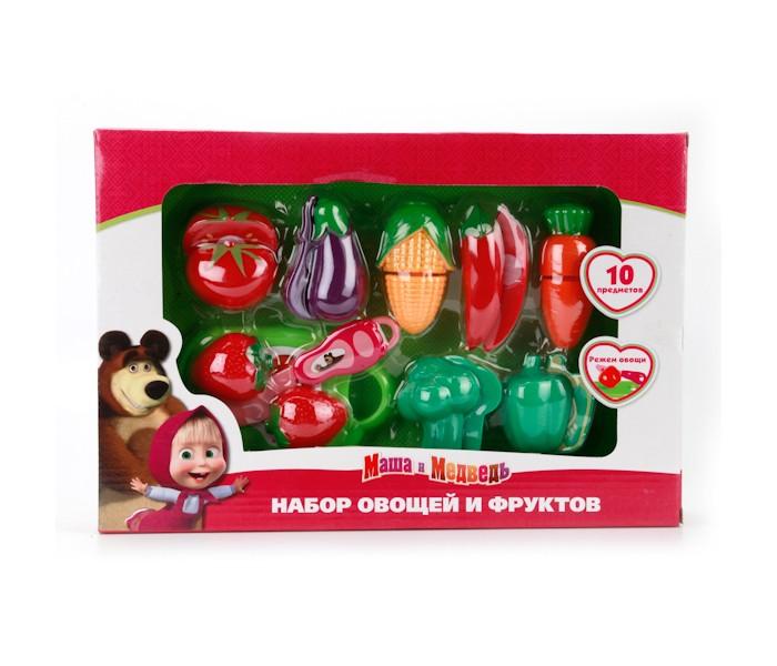 Ролевые игры Играем вместе Набор овощей и фруктов Маша и медведь игрушки для ванной играем вместе набор для купания маша и медведь